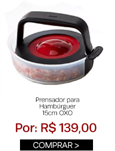 Prensador para hambúrguer 15cm OXO