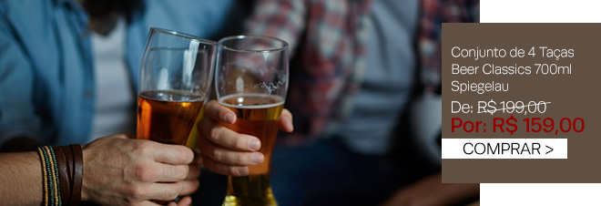Conjunto de 4 taças para cerveja em vidro beer classics 700ml Spiegelau